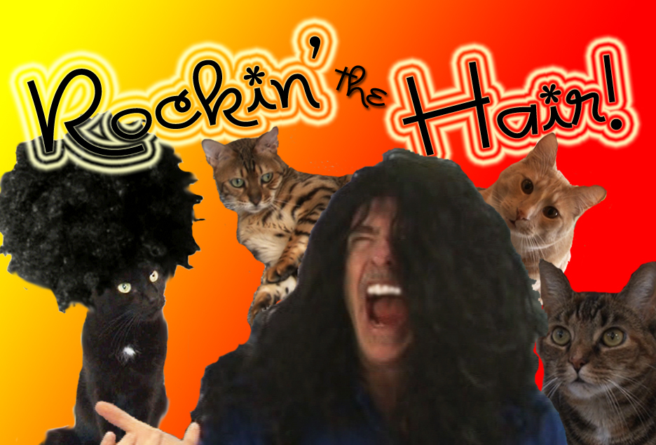 Hensons Hell Rockin The Hair Cat Clips 222