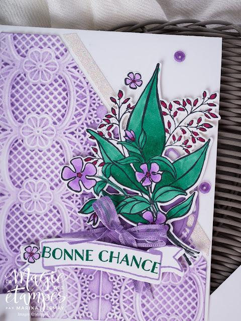 Carte créée avec le jeu Douce Romande de Stampin' Up!