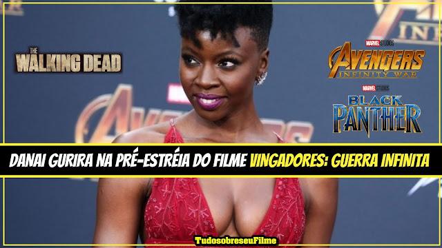 Tem Na Web - Veja a beleza de Danai Gurira, de Pantera negra, na pré estreia dos Vingadores