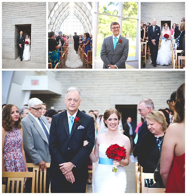 wedding ceremony at White Chapel in Terre Haute, Indiana