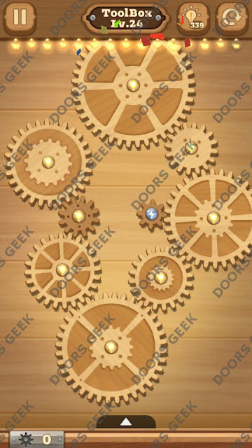 Fix it: Gear Puzzle [ToolBox] Level 24 Solution, Cheats, Walkthrough for Android, iPhone, iPad and iPod