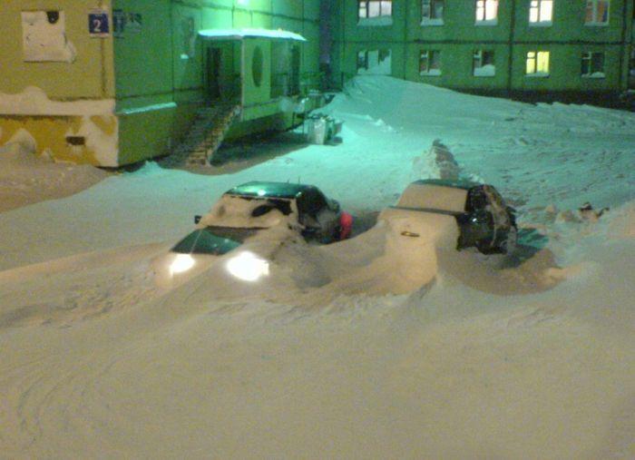 Как выглядит настоящая зима в Норильске