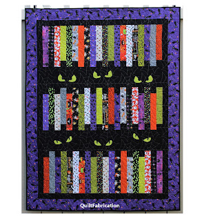 HALLOWEEN-FRIGHT NIGHT-QUILT-PATTERN-LAP QUILT-SCRAP QUILT-CAT EYES-EASY QUILT PATTERN