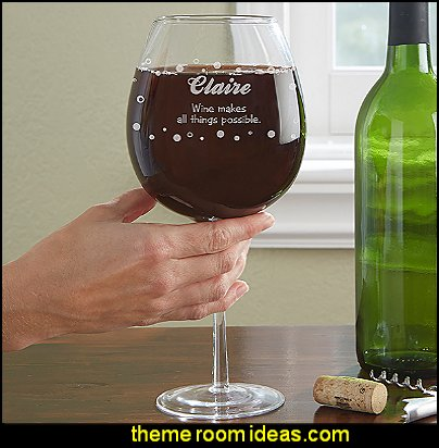 Big Vino Whole Bottle Personalized Wine Glass