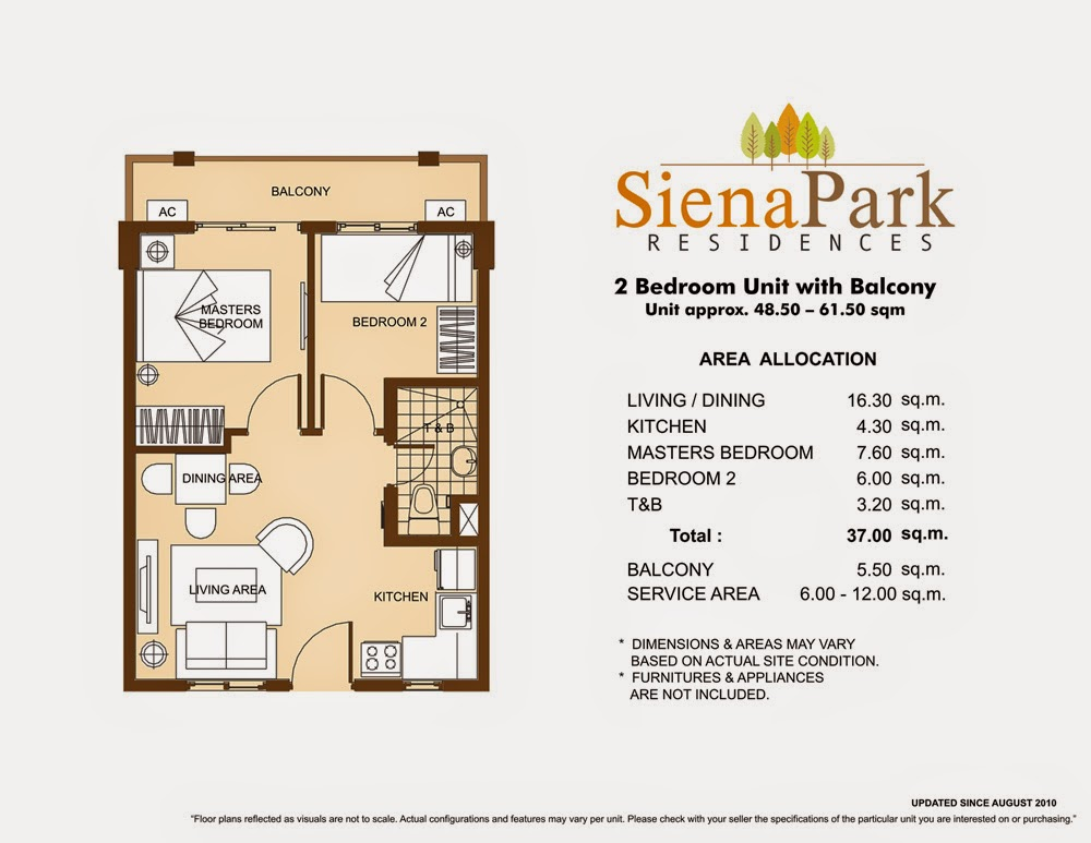 Siena Park Residences 2-Bedroom Unit 37.00 sqm