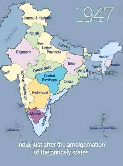 Divided India United Or Separated Yesteethatsme - Map of united provinces india