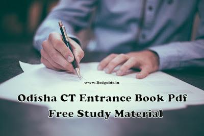 Odisha CT Entrance Book Pdf (D.El.ED) - Free Study Materials For Students