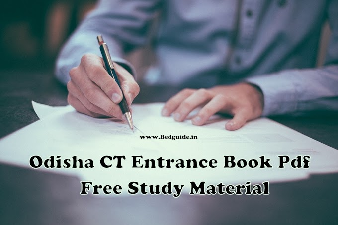 Odisha CT Entrance Book Pdf (D.El.ED) - Free Study Materials For Students