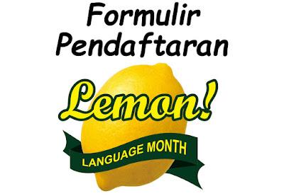 Formulir Pendaftaran LEMON 2018