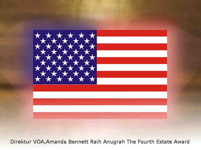 Direktur VOA,Amanda Bennett Raih Anugrah The Fourth Estate Award