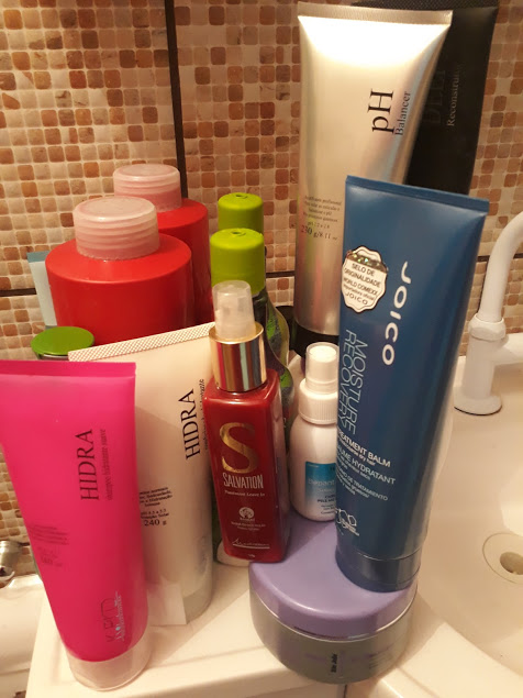 Meus queridos Shampoos, condicionadores e tratamentos capilares