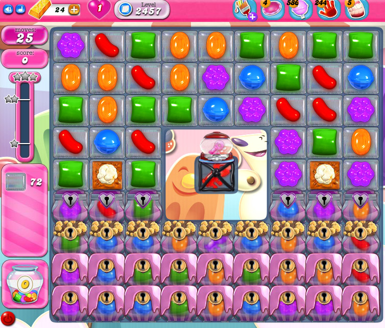 Candy Crush Saga level 2457