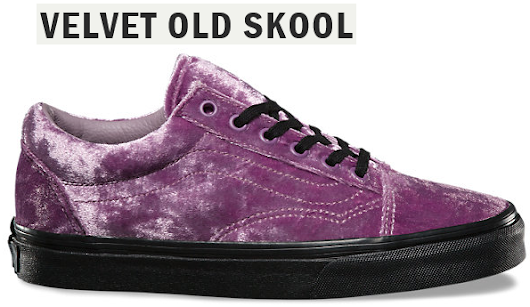 Purple Velvet Shoes - Old Skool