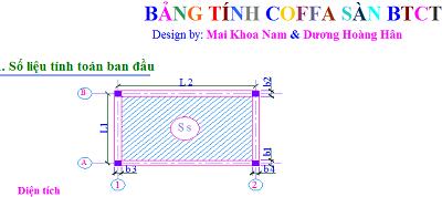 File excel tính coffa Dầm - Sàn mái - Cột-1
