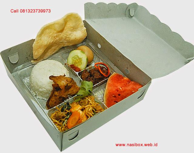 Nasi box ala rumah makan sederhana di ciwidey
