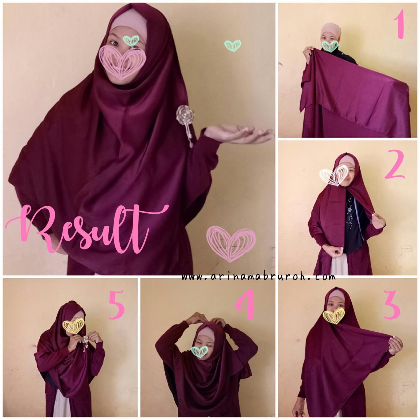 Cara Memakai Hijab Segiempat Lebar Nan Simpel Ala Saya Istanarina I Lifestyle Blog I Personal Blog Arina Mabruroh