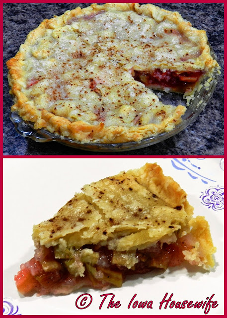 The Iowa Housewife Bonnie 39 S Strawberry Rhubarb Pie
