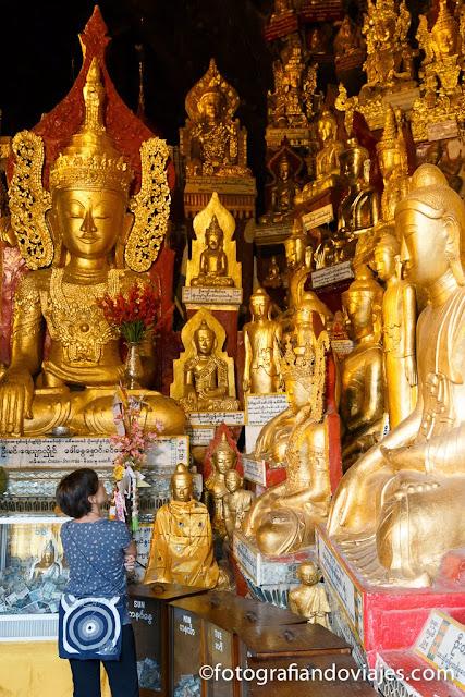 Shwe Oo Min en Pindaya Myanmar