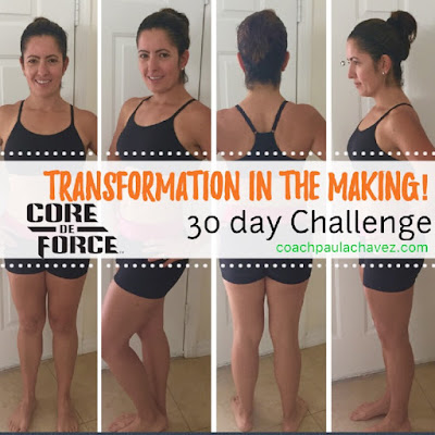 core de force, meal plan, core de force before and after