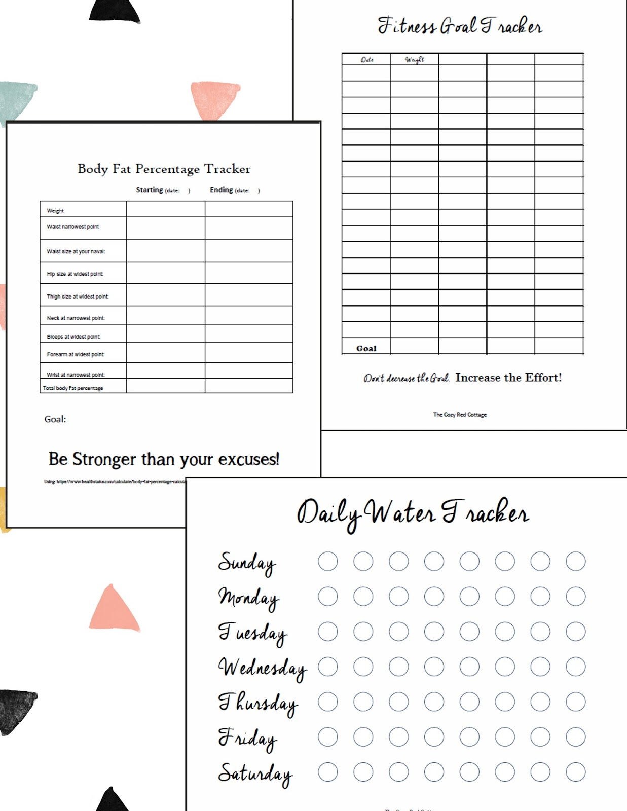 The Cozy Red Cottage Free Worksheets To Help Keep Track