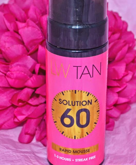Lauren Goodger - Tan - Lauren's way - Solution 60 - tanning - fake tan - self tan - medium tan - mousse tan - swatches - review - one hour tan