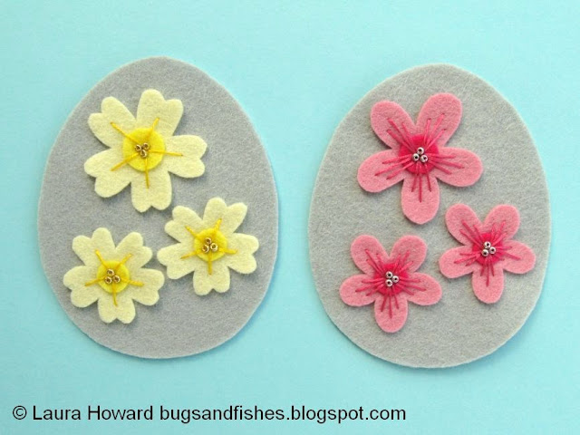 adding seed beads to the flowers