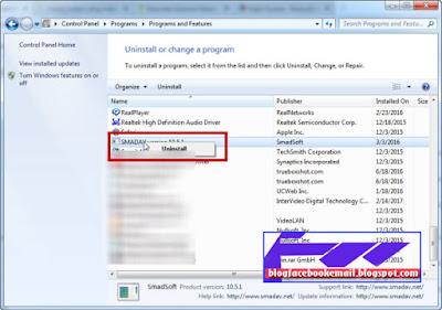 bagaimana cara menghilangkan aplikasi smadav di pc laptop