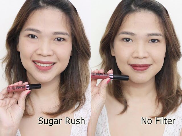 a photo of askmewhats nikki tiu wearing Sugar Tint Lip and Cheek Tint Review in Sugar Rush and No Filter.
