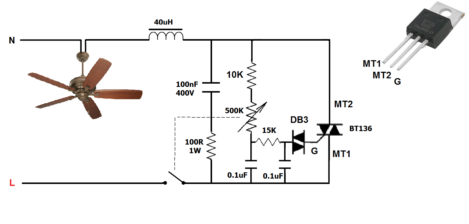 Simplest ceiling fan electronic regulator(Dimmer) ~ Simple