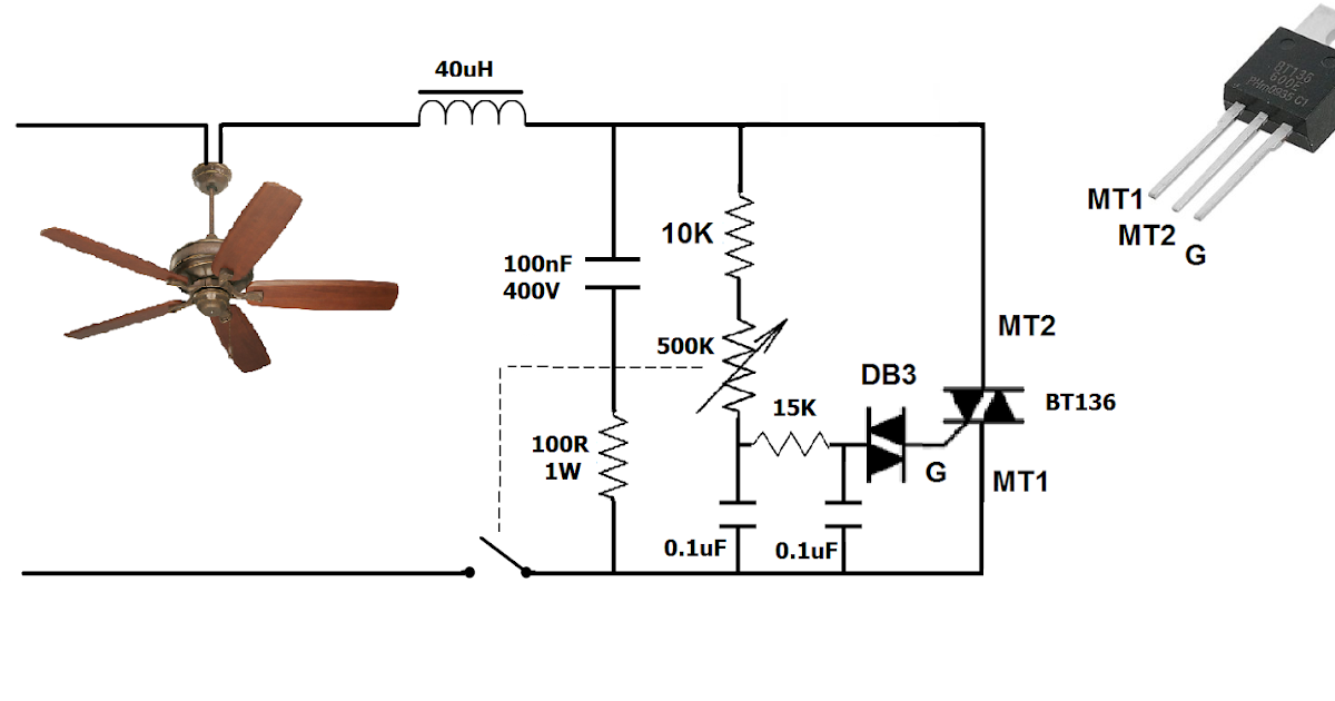 simplest ceiling fan electronic regulator dimmer