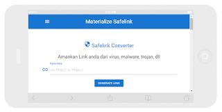 Safelink Materialize Template Blogger