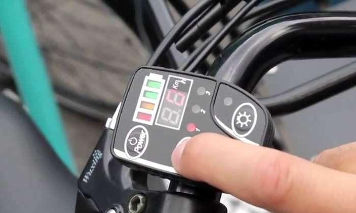 tela da bicicleta eletrica Muvo