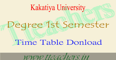 KU degree latest new semester 1 time table 2016 revised 1st year exam dates