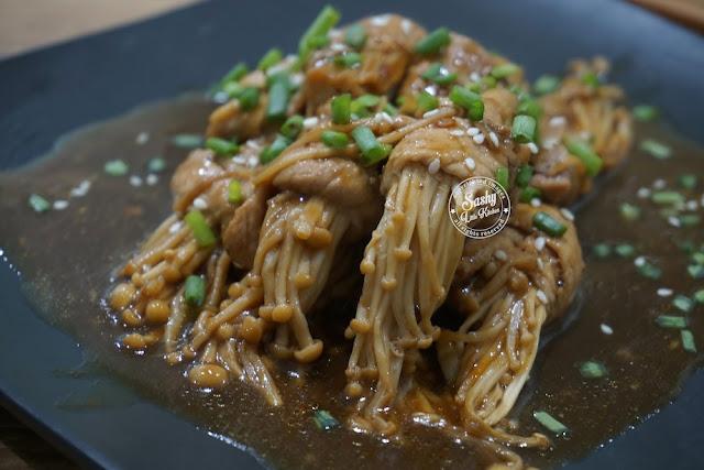 Beef Enoki Roll in Teriyaki Sauce