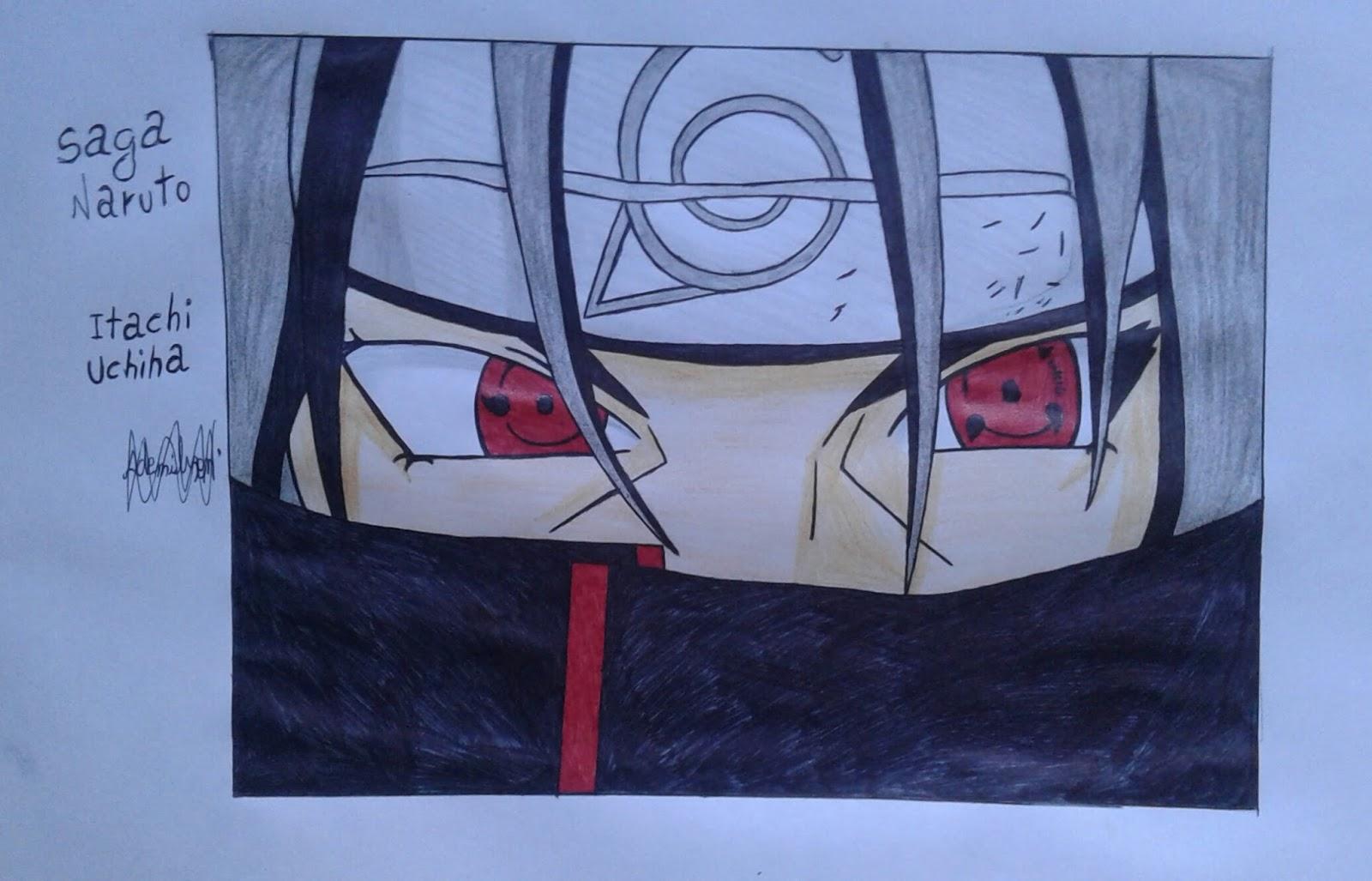Arte Kawaii Brasil Desenho Do Itachi Uchiha Para Desenhar