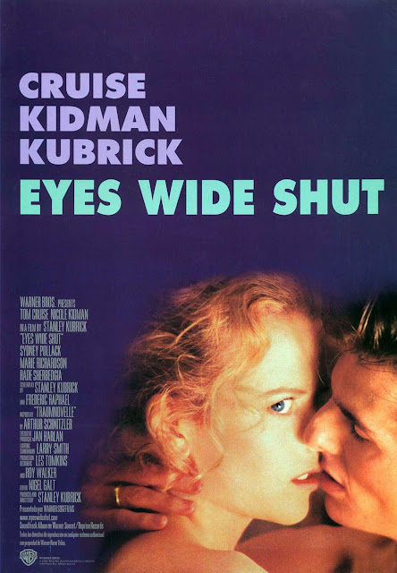 eyes wide shut, directed by stanley kubrick, starring tom cruise, nicole kidman, erotic film poster