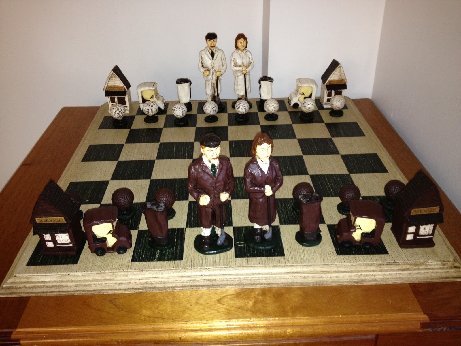 Unique Chess Sets Rochester Chess Club Blog Unusual Quotgolf Quot Chess Set