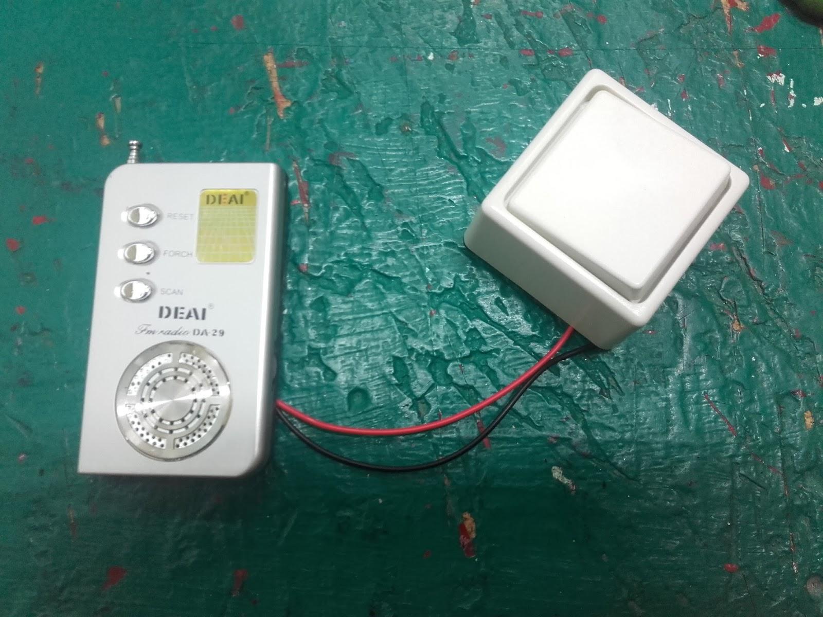 radio con pulsador