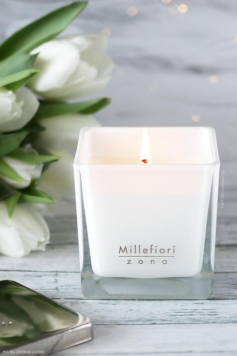 elegancka świeca zapachowa millefiori