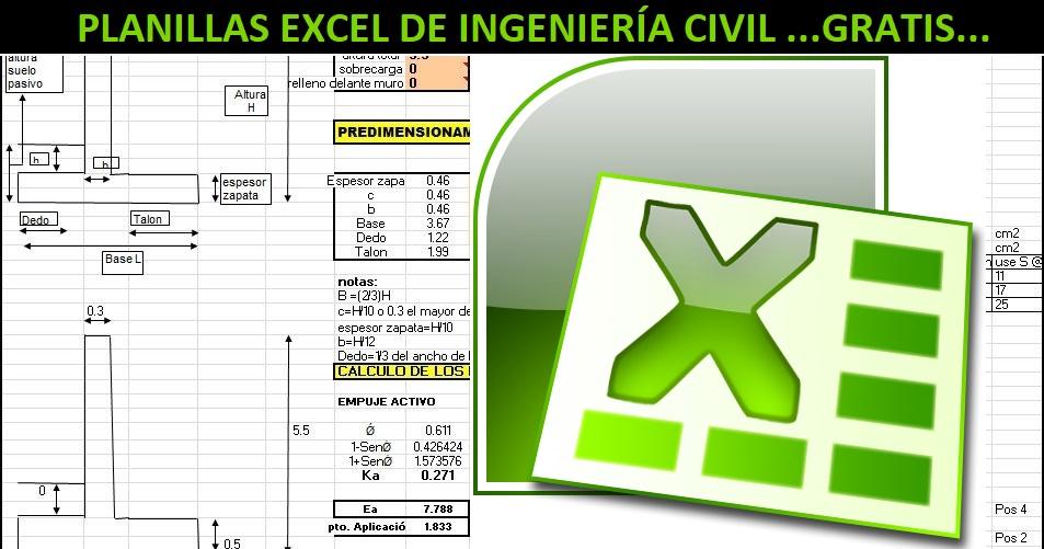 Descarga Planillas Excel y Hojas de Cálculo para Ingeniería Civil