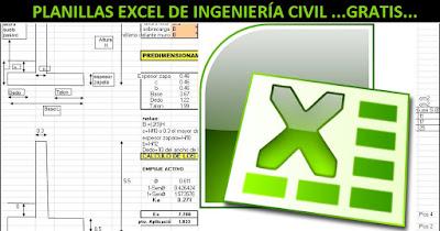 Planillas Excel Hojas de Cálculo Excel para Ingeniería Civil
