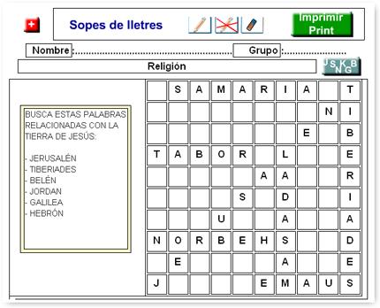 Juegos De Sopa De Letras Para Ninos Cristianos Imagui