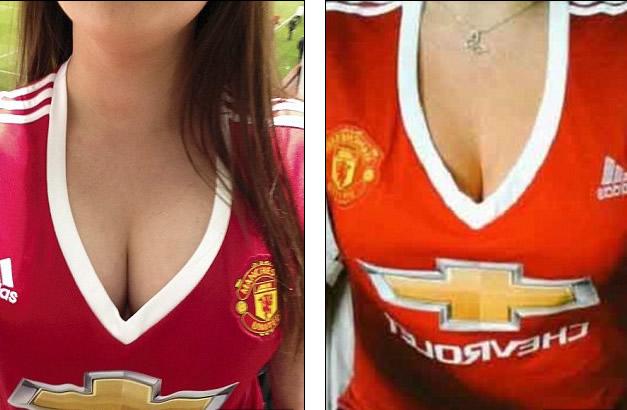 Camiseta femenina del Manchester United de la marca adidas