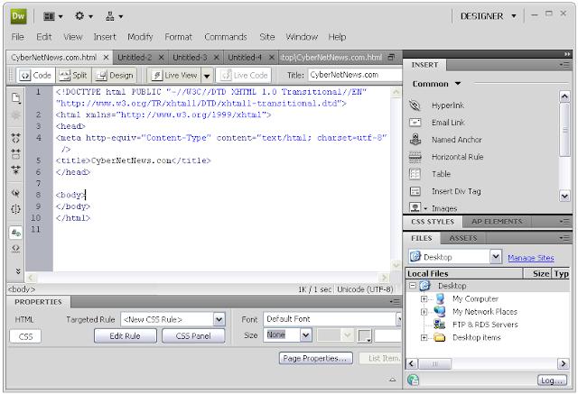 Adobe Dreamweaver CS4 Free Download - OneSoftwares