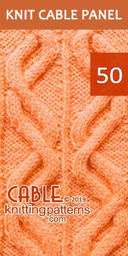 Knitted Cable Panel Pattern 50, its FREE. Advanced knitter and up