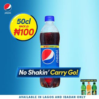Pepsi Officially brings price of 50cl Plastic bottle down to N100