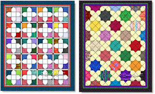 'Sweet Pea' quilt images © W. Russell, patchworksquare.com