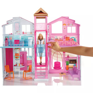 Playset Real Super Casa 3 Andares Barbie - Mattel