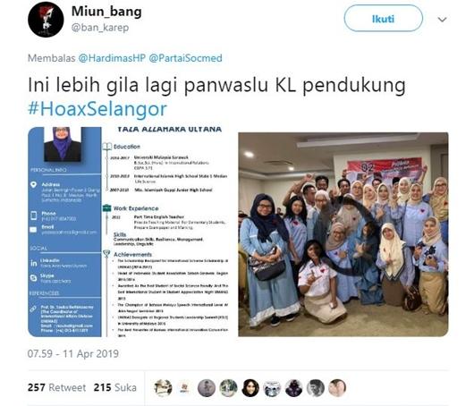 Surat Suara Tercoblos di Malaysia, Ketua Panwaslu Kuala Lumpur Pendukung Prabowo-Sandi?