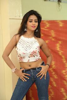 Deekshita Parvathi in a short crop top and Denim Jeans Spicy Pics Beautiful Actress Deekshita Parvathi January 2017 CelebxNext (69).JPG